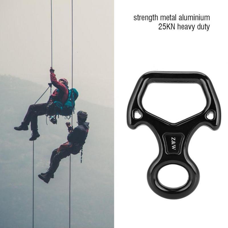 40KN Figure 8 Descender Belay Device Rock Tree Climbing Rappel Rescue Equipment