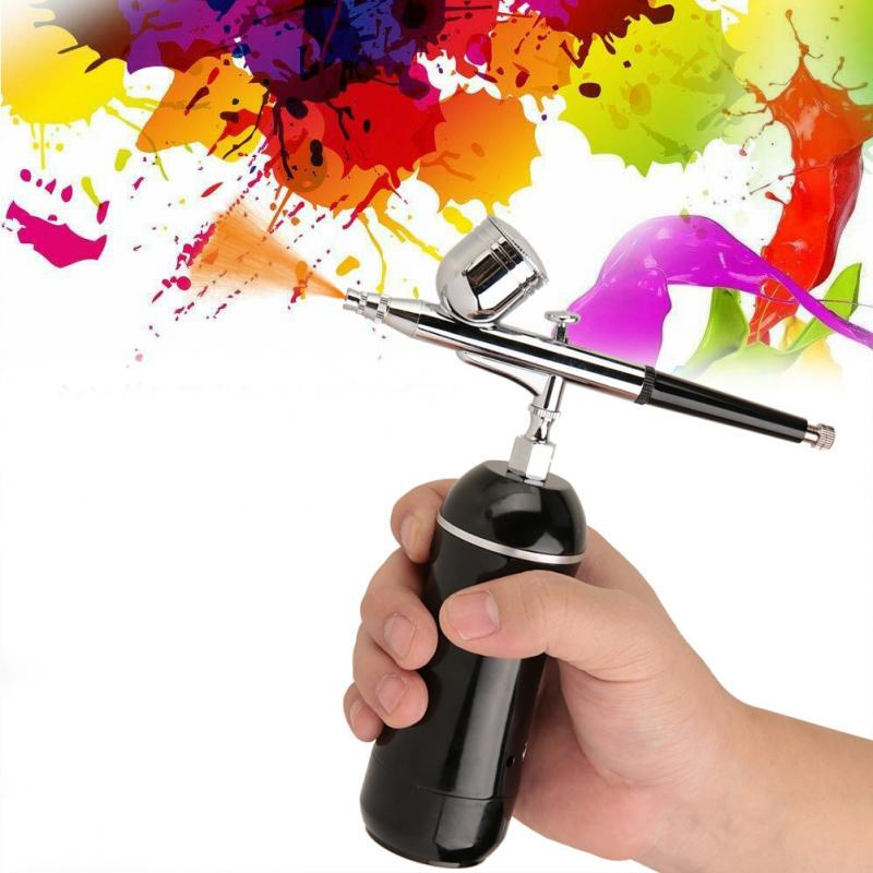Durable Portable Sturdy Spray Gun 7Cc Light for Your Painting Business Airbrush Set