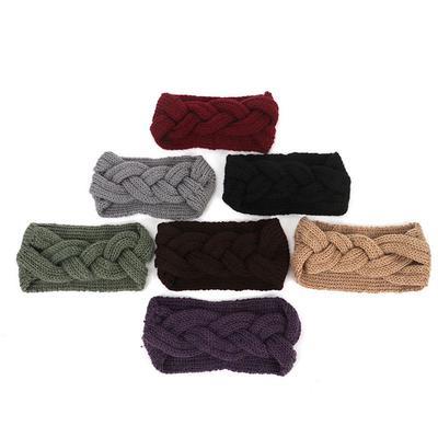 62c654998 Novas mulheres inverno resistente Fishnet tricô lã cabelo banda moda garota  lã quente dom