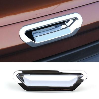 Carbon fiber Rear Trunk Door Handle Bowl Cover Trim For Ford Escape Kuga 2013-18