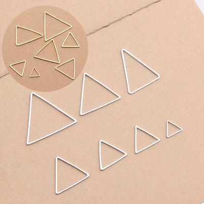 10Pcs Gold Geometric Triangle Shape Connectors Charms Fit DIY Necklace Bracelet
