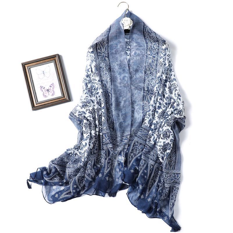 Cotton Winter Windproof Scarf Hijab Square Bandana Neckerchief Wraps And Shawl