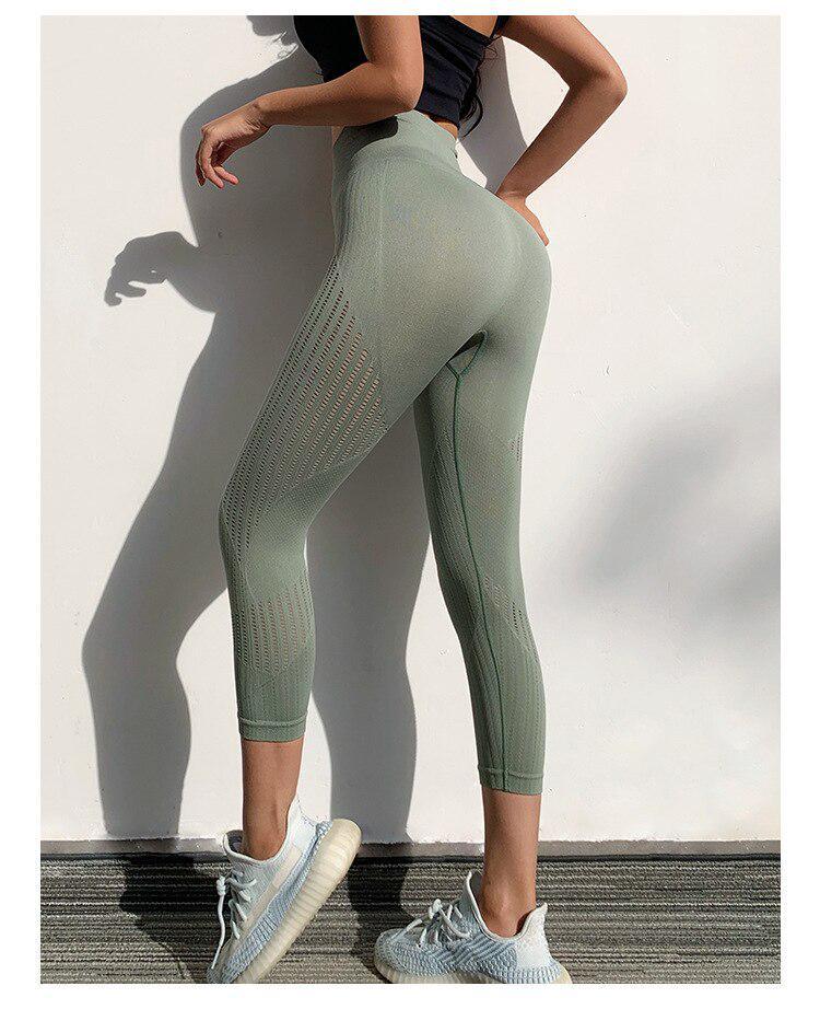 WUAI Yoga Pants for Women Workout Leggings Slim Fit Gym Casual High Waist Athletic Denim Trousers