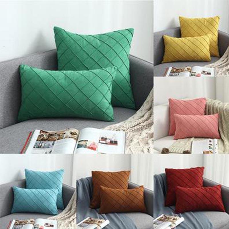 Soft 40x40cm Suede Pillowcase Car Sofa Cushion Cover Bedroom Square Pillow Cases