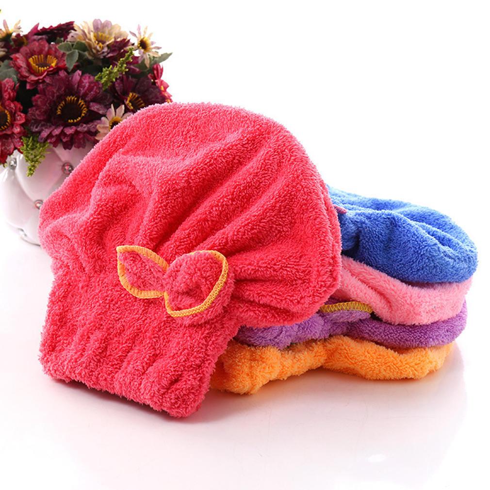 Microfiber Handtuch schnell trocken Haar trocknen Turban Wrap Hut Cap Spa Baden!