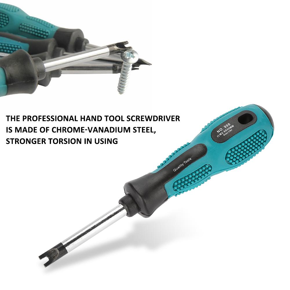 5X Small Magnetic Precision Flat-blade//Cross Screwdriver Home Repair Tools Set U