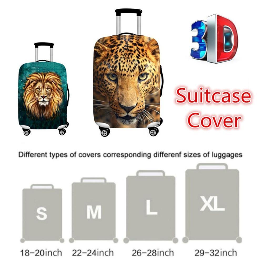 Luggage cover Housse de Valise Bagage Protecteur Couverture Animal Design /épais Haute /élasticit/é Lavable Voyage Bagages Housse Valise Protecteur sadapte /à 18-32 Pouces