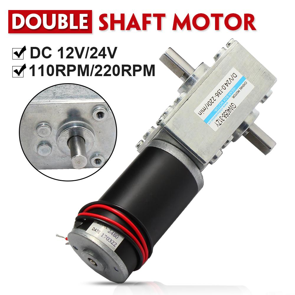 New DC12V 24V High Torque 37 CW//CCW Reduction Gear DC Motor with Metal Gearbox