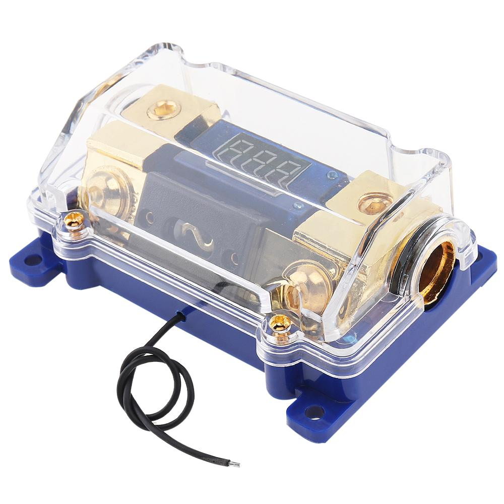 buy 100a car audio power fuse box holder block with led voltage display  audio fuse holder portafusibles at affordable prices — free shipping, real  reviews with photos — joom  joom