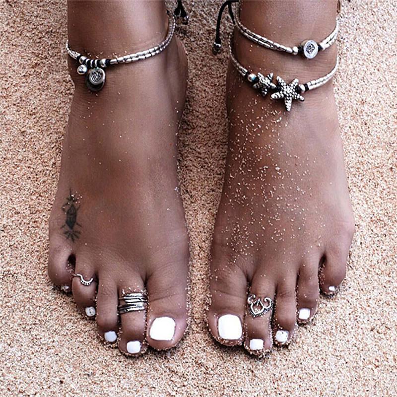 Turquoise Anklet beach Gift Hamsa Hand Anklet Adjustable anklet summer jewelry foot bracelet