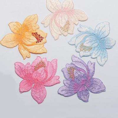 Rose Flower Pattern Embroidery Iron On Applique Patch 8.5*8.5Cm Badges// Patch JD