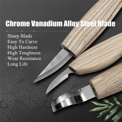 Good Toughness and Easy to Engrave 10pcs with Leather Bag Stone Carving Tools Sculpting Pen DIY Craft Kits 150mm 10pcs//8pcs Carving Knife