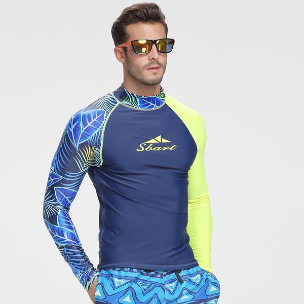 84a757d9b2715 SBART manga larga traje de baño hombre licra surf buceo camiseta ...