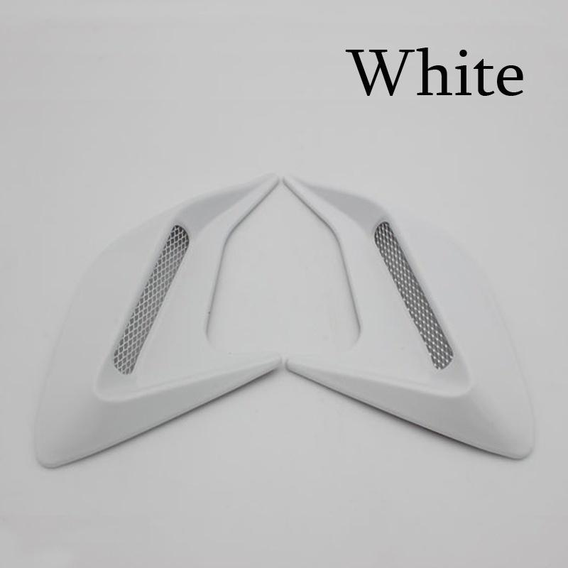 Universal Car Fake 3D Vent Plastic Sticker Hood Scoop Exterior Decoration SP