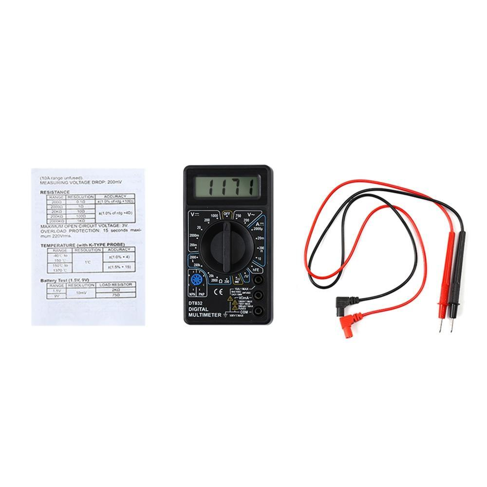 Whdz Dt832 Portable Alarm Poles Voltage Tester Professional Digital Temperature Probe For Multi Meter 2 Of 4