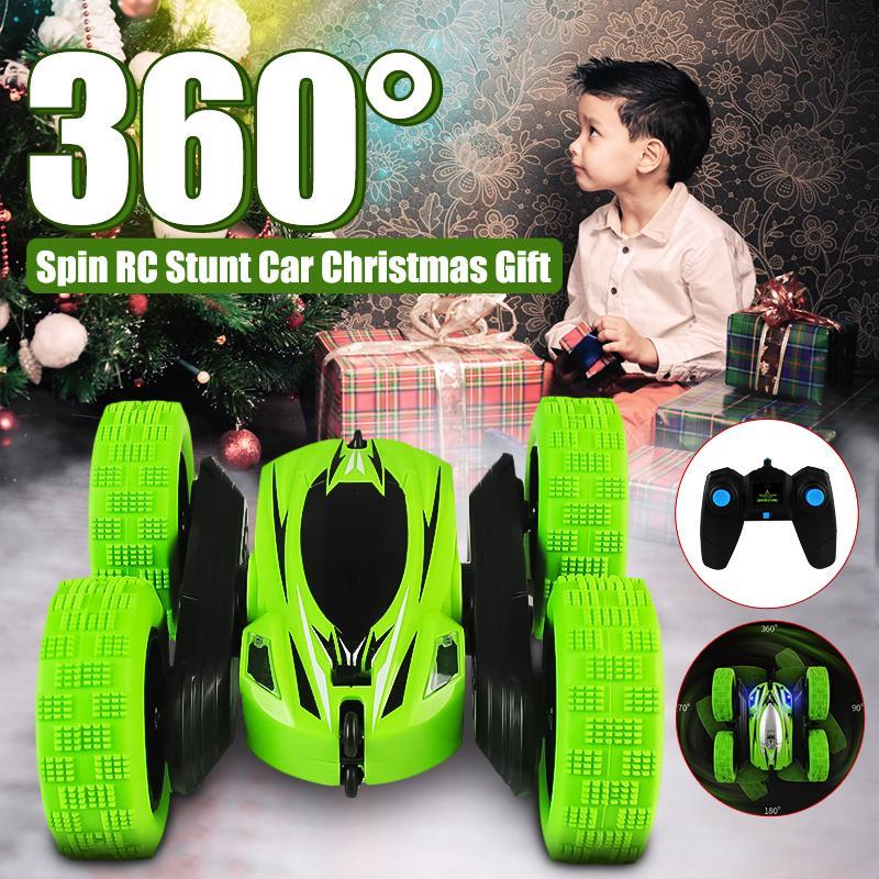 1/28 RC Stunt Автомобиль высокая скорость Tumbling Crawler vehicle 360 Градусов Flips Двухсторонний Вращающийся автомобиль подарок