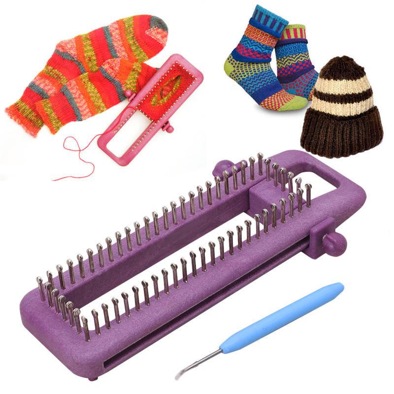 Регулируемый носок Loom Kit вязание носки Шарф Шляпа ручной ремесло инструмент – купить по низким ценам в интернет-магазине Joom