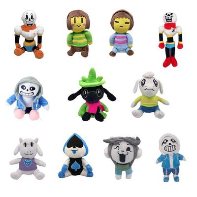"3PC//Set Undertale Frisk Chara Sans Plush Doll Figure Stuffed Toy 8/"" Kid Gift"