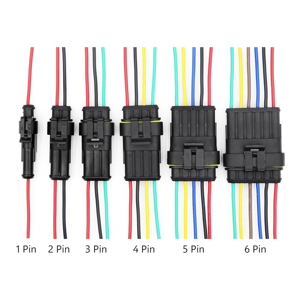 1 2 3 4 5 6 PIN WAY 18 AWG CAR WATERPROOF PLUG CONNECTOR WIRE 2.4MM TERMINAL A3
