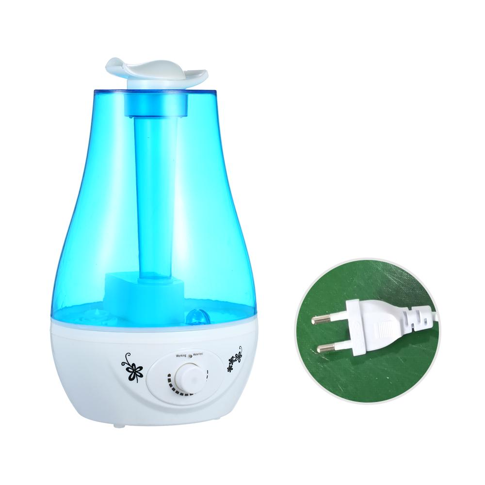 2.5L Large Dual-Nozzle LED Ultrasonic Humidifier Mist Maker Bedroom Air Purifier