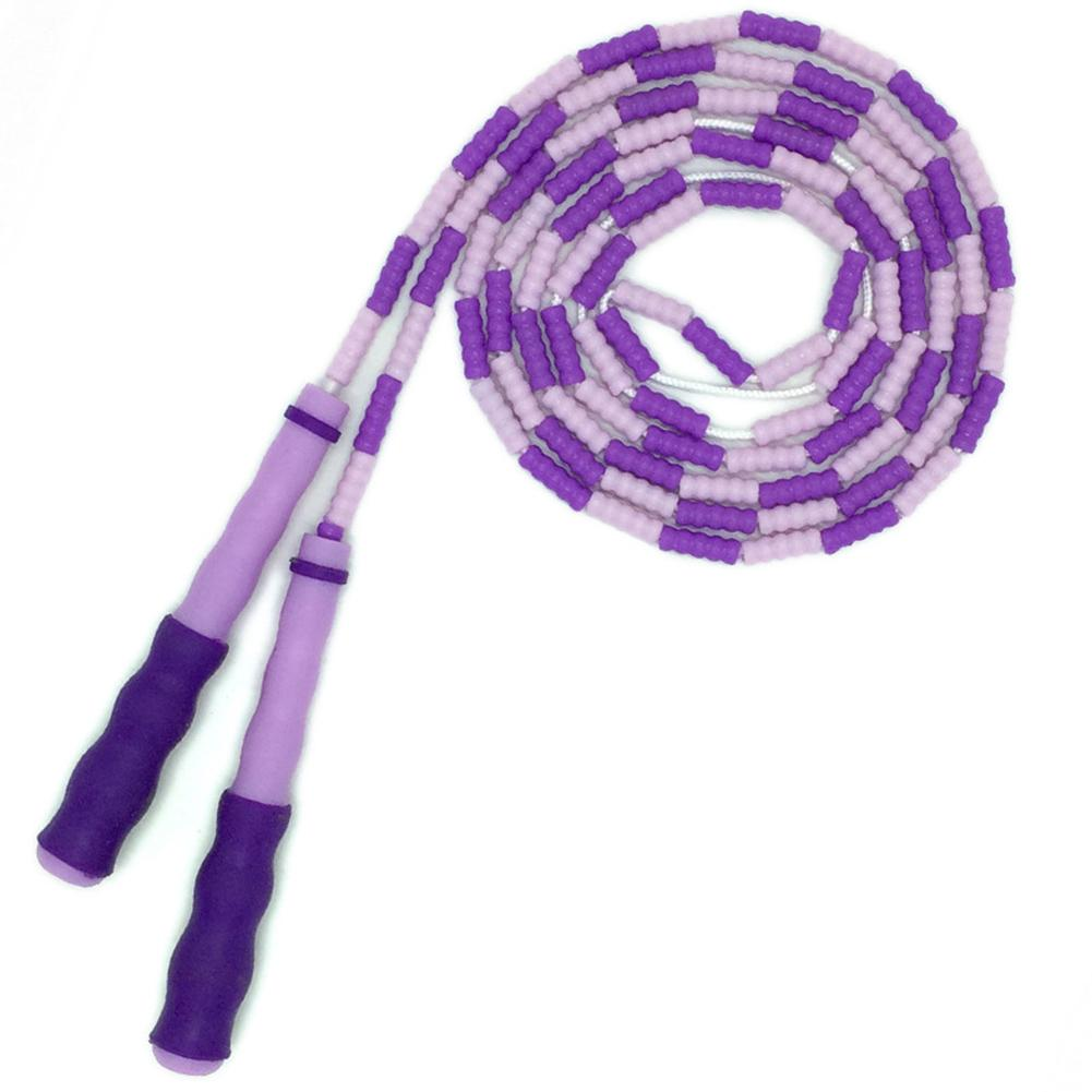 Sport Rope Bamboo Jumprope Sports Training Flat Handle Game Skipping Rope Beaded