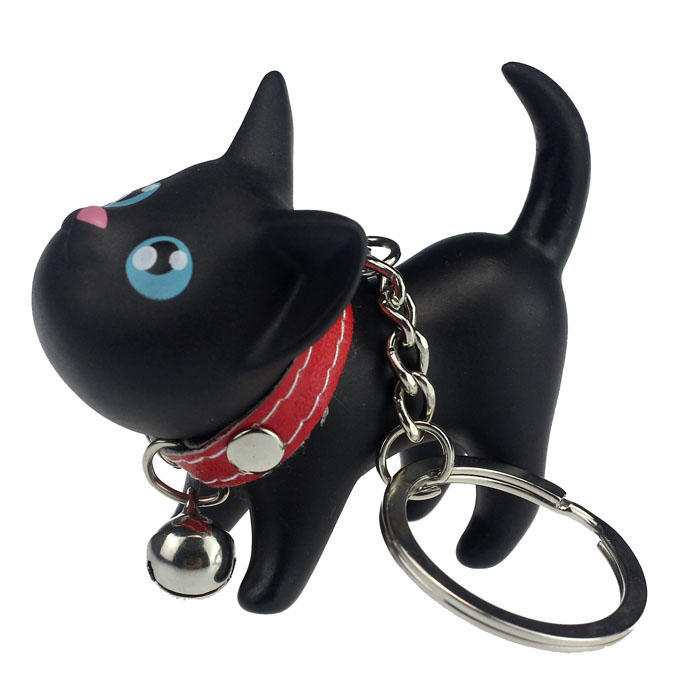 Adorable Cute Cat Kitten Key Chain Key Ring Toy Figurine With Collar/& Bell