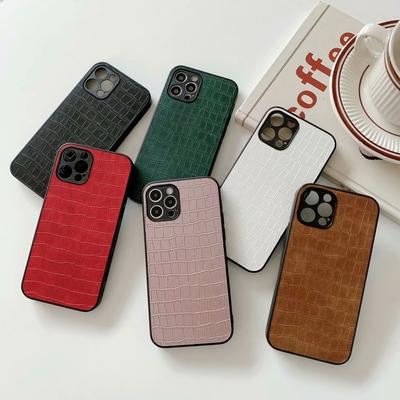 Luxury Crocodile Pattern PU Leather & Hard PC Shockproof Phone Case For Samsung S20 iPhone 12 Huawei P30 Xiaomi Redmi 8A