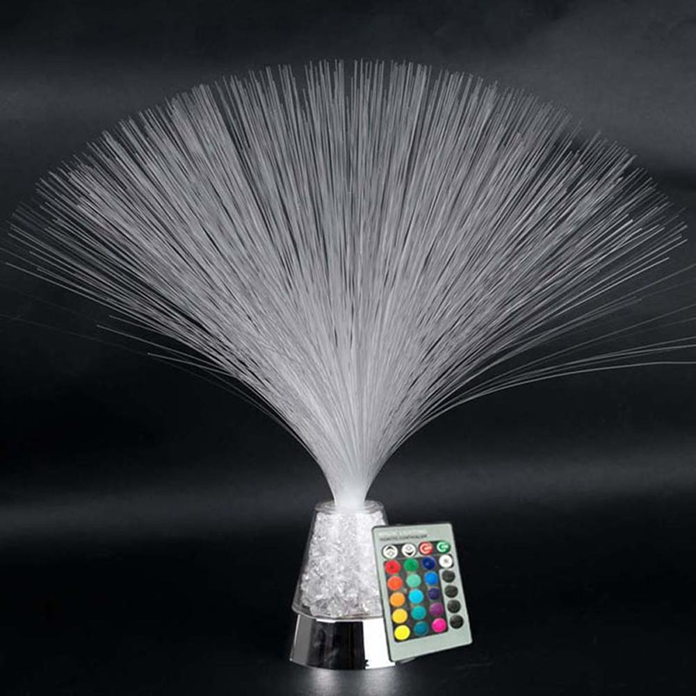 LED Fibre Optic Light Starry Lamp Color Changing Fountain Night Claming Light