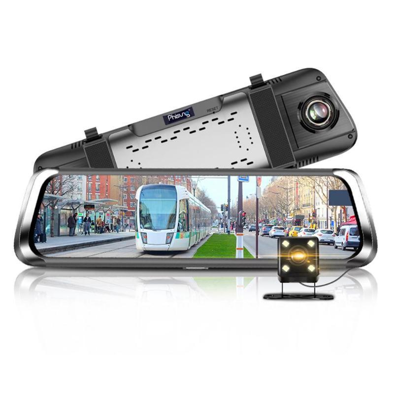 "10/"" Car Rearview Mirror DVR Camera Dual Lens Android 5.1 Dash Cam Video Recorder"