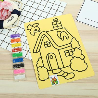 Kids color sand painting art creative drawing toys sand paper art crafts toy 0U