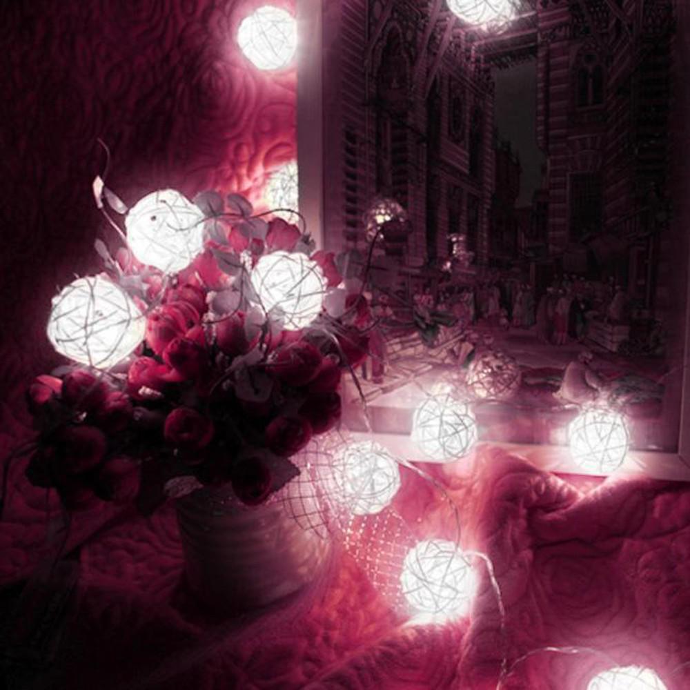 BEESEA 10 LED Color Rattan Ball String Fairy Lights For Xmas Wedding ...