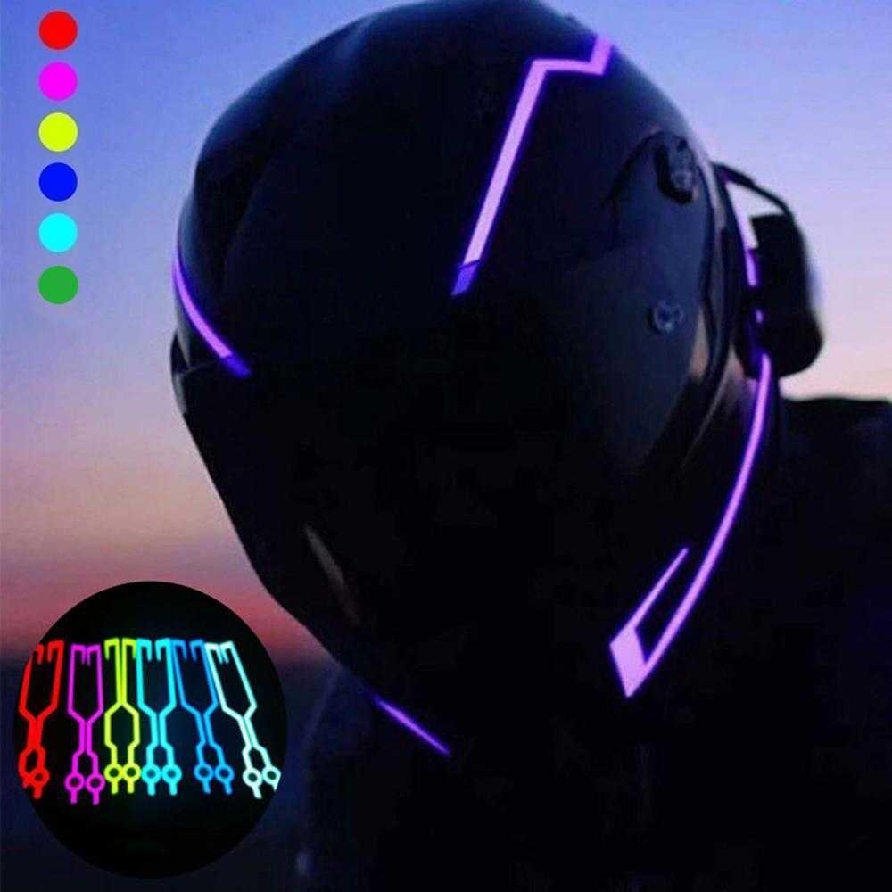 Details about  /Motorcycle Helmet Light Strip Motor Bike Signal Night Safety Riding Lights DC