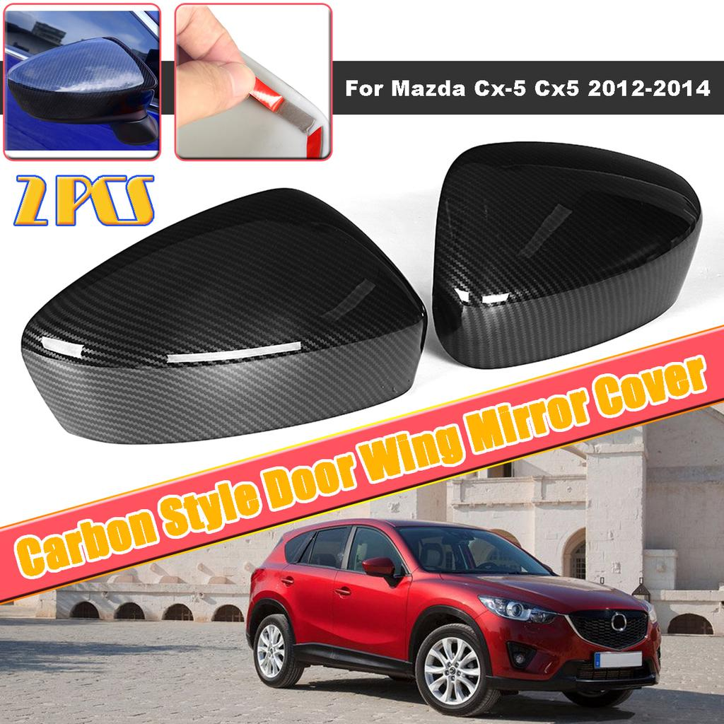 Chrome Side Mirror Cover Trim for Mazda CX-5 2012-2014 Rearview Protect ABS
