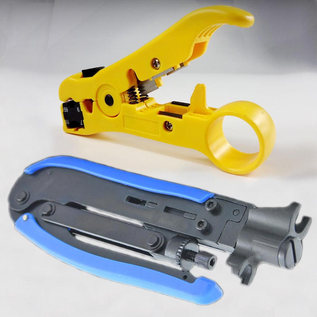 2pcs Kompressions-Tool Draht Spanner Koaxialkabel Crimper + Kabel ...