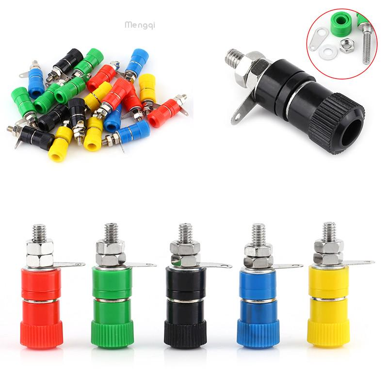10Pieces Binding Post Speaker Terminal Panel Connector for 4mm Banana plug