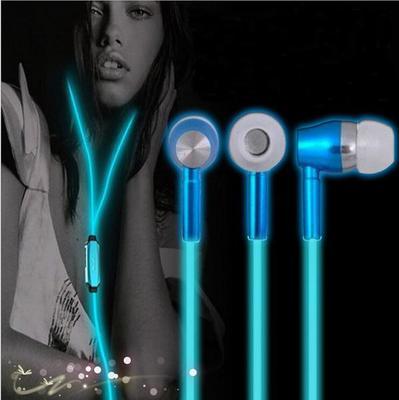 Resplandor en el oscuro auriculares noche luminosa brillante ligero auricular In-Ear manos libres estéreo con