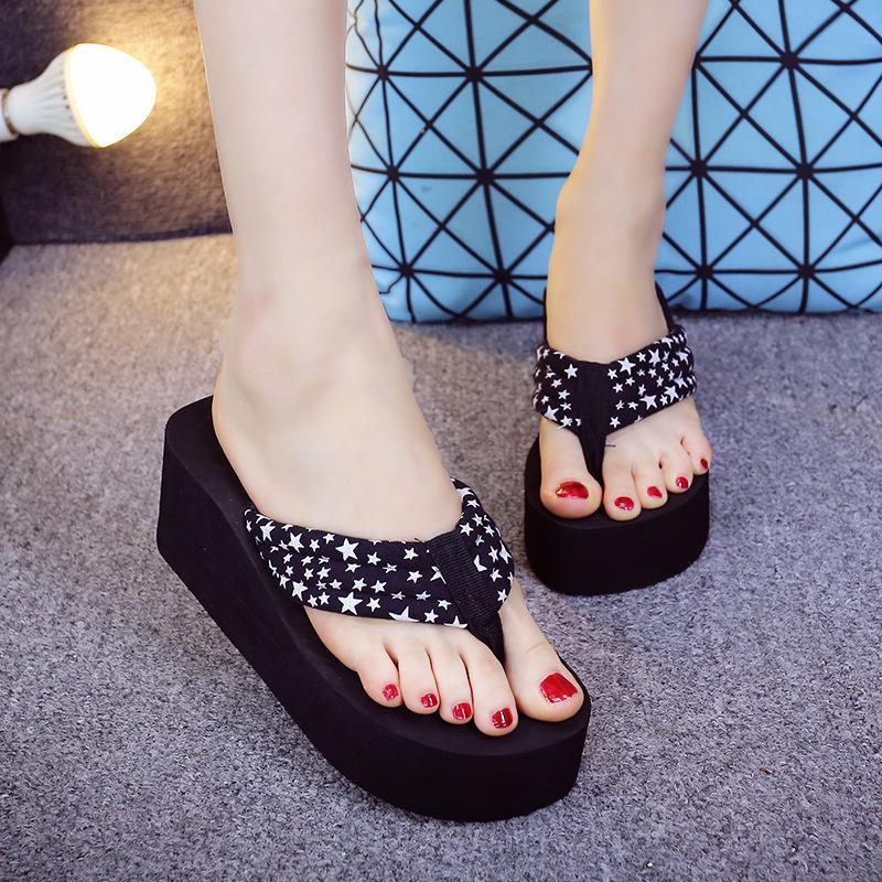 81b73aaed46ac Kobiety Moda klapki Letnie Casual Szpilki Klapki Platformy Sandały Kliny  Wygodne buty plażowe - kupić w niskich cenach w sklepie internetowym Joom