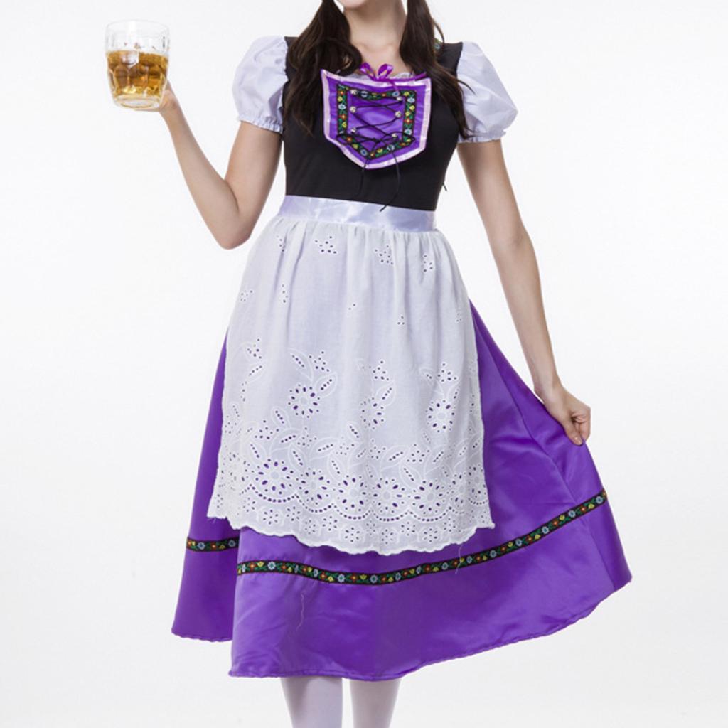 Women/'s 3 Pieces Dirndl Short Dress Bavarian Beer Festival Cosplay Show Costumes