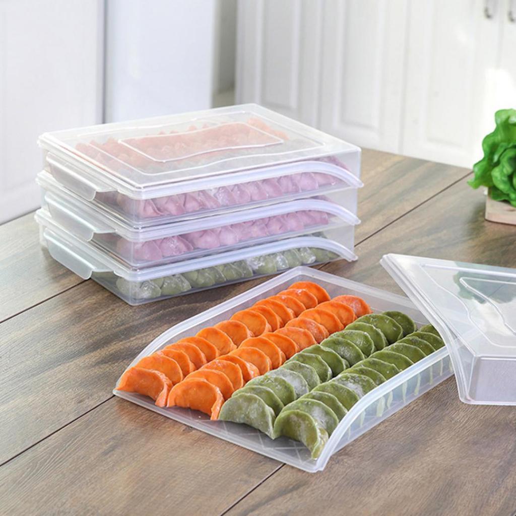 Food Box Storage Dumpling Refrigerator Container Plastic Organizer Kitchen