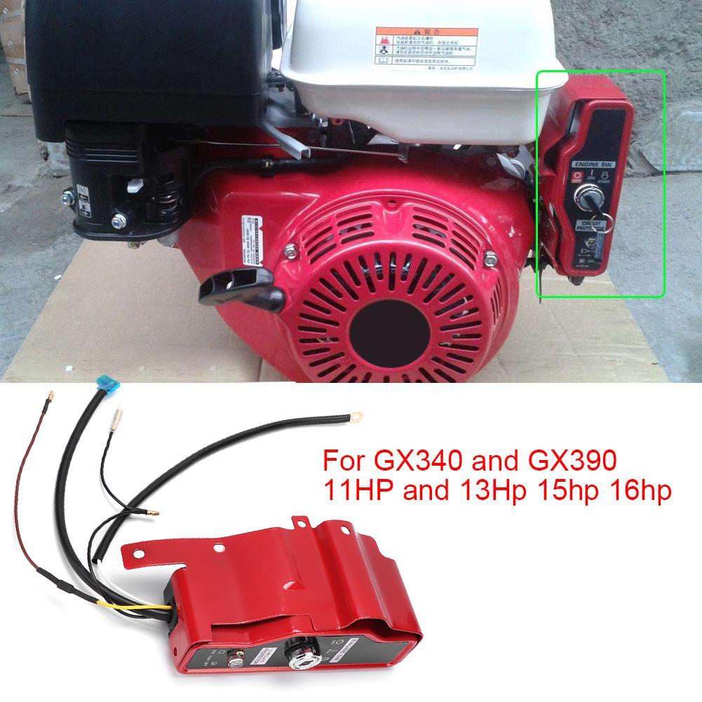 Engine Ignition Lock Cylinder 2 Keys Switch for Honda GX390