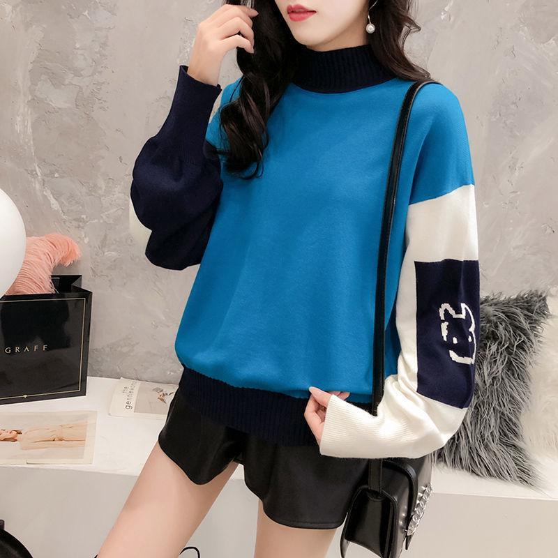 Чистая Красная Loose Sweater Girl Корейский Мода Тенденция Осень и Зима Короткие Ленивый Стиль с длинными рукавами свитер женский топ – купить по низким ценам в интернет-магазине Joom