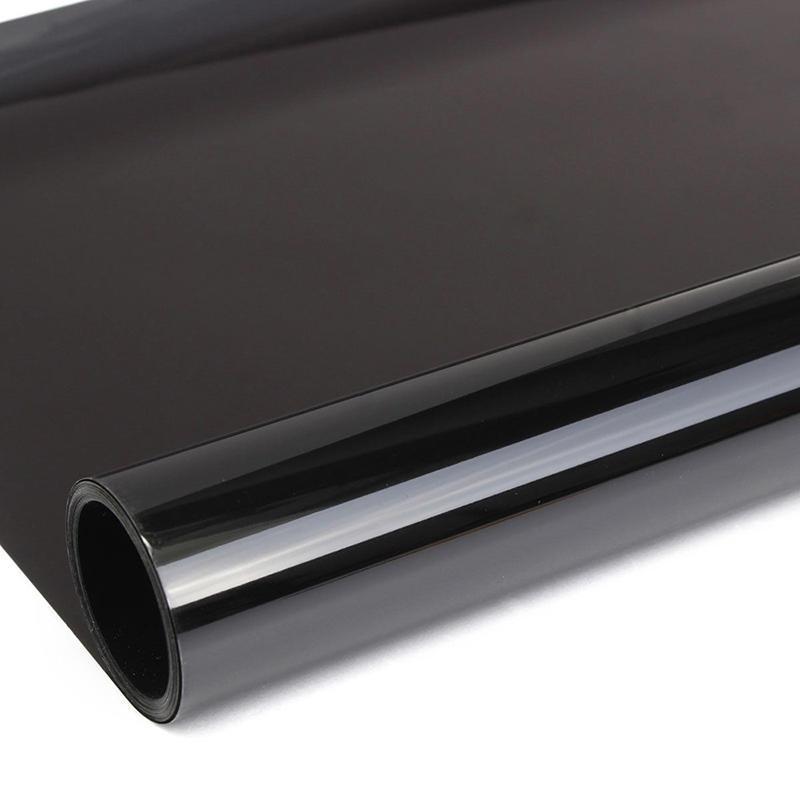 50 cm Largeur Rouleau Voiture Fenêtre Tint Film-Lumière Noire Fumée 25/% Auto Voilage