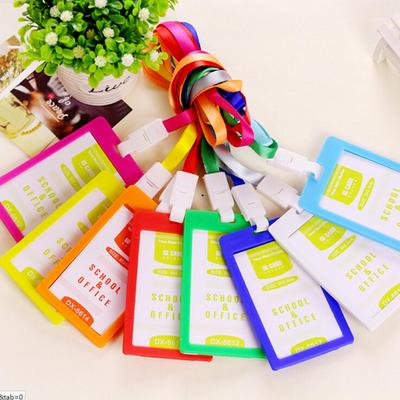 New Plastic Bus Neck Work Office Strap Badge Id Holder Pass Lanyard Card Wallet