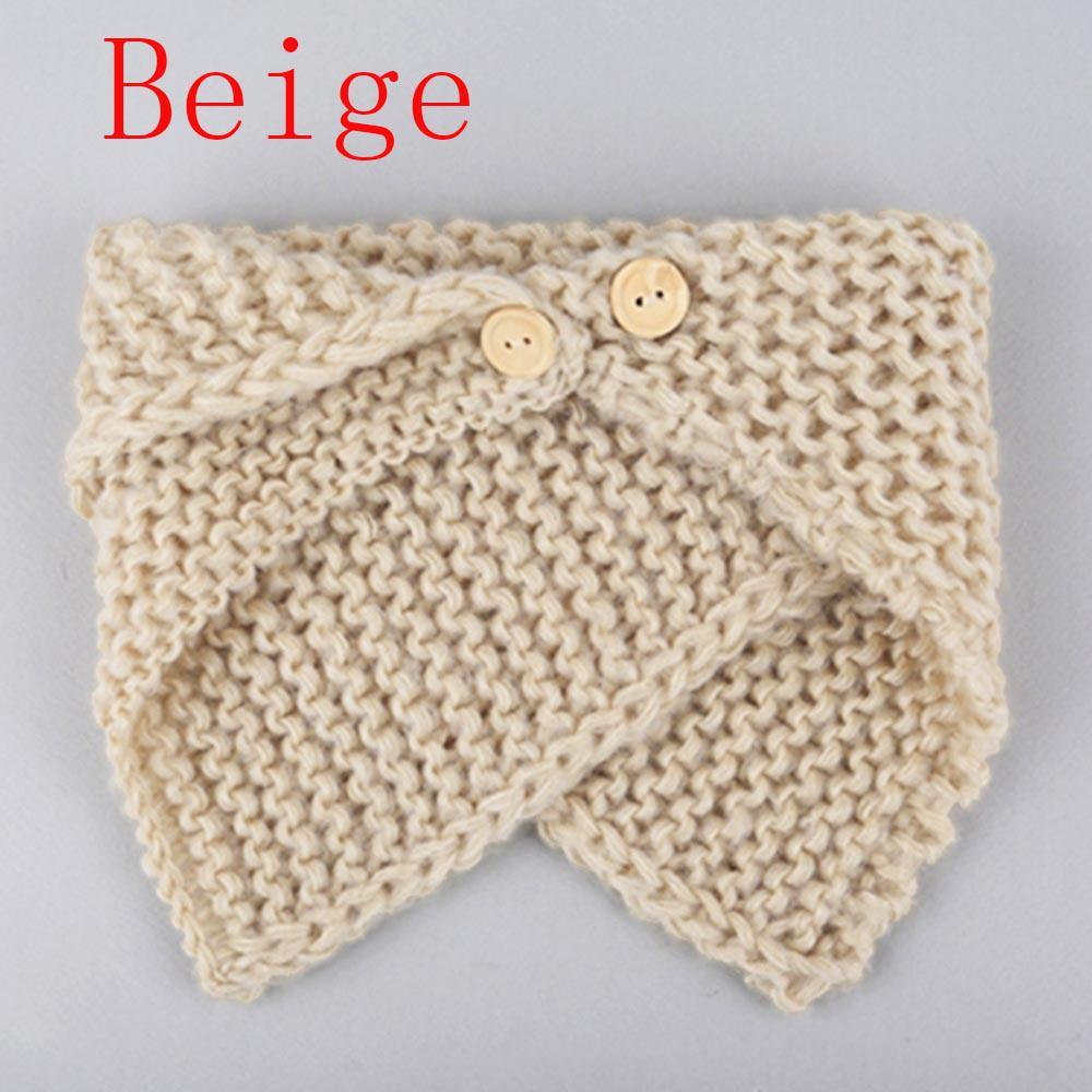 Niños otoño botón tejer bufanda bebé caliente de invierno mantón de ...