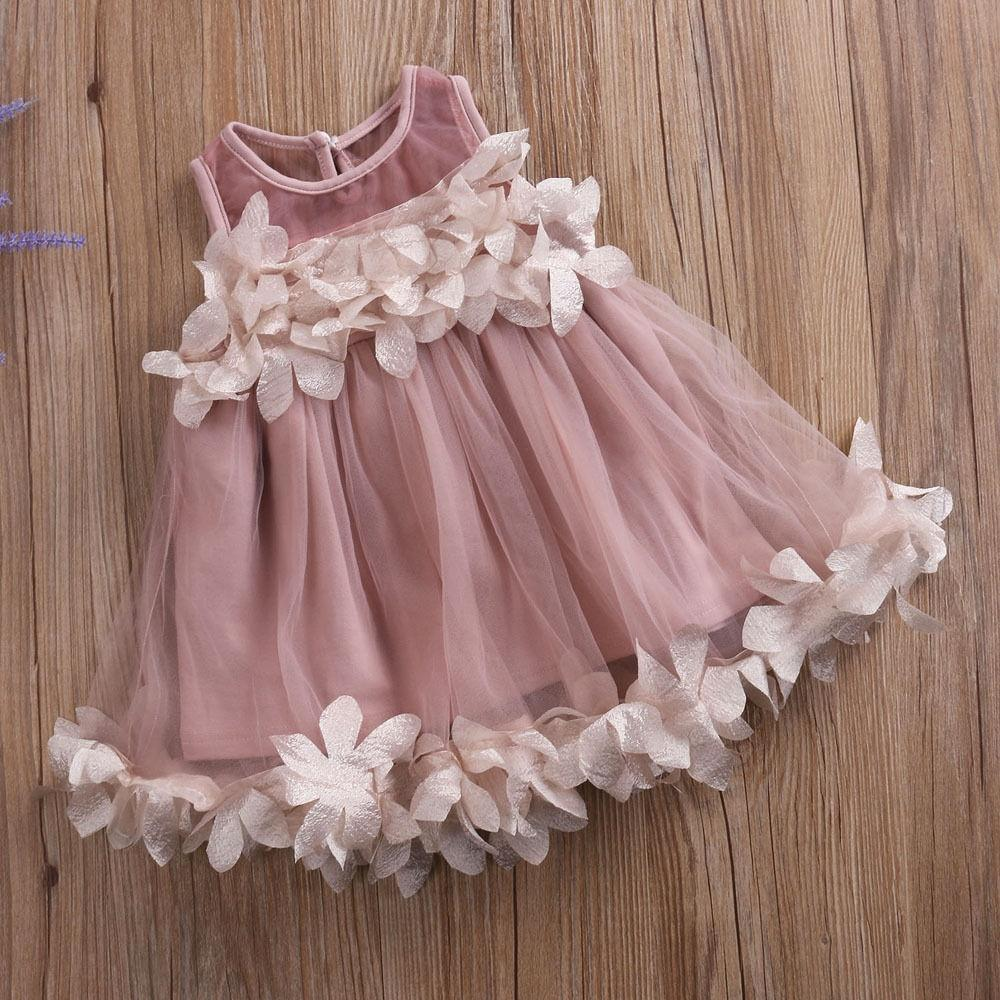 Kids Baby Girls Princess Party Pageant Tutu Dress Sundress Clothes Age 2-7 Years
