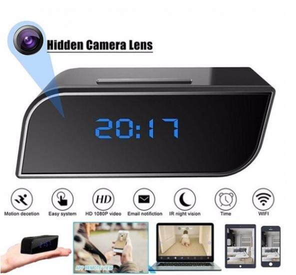 HD 1080P Surveillance Wifi Motion Camera Alarm Clock IR Security Camera