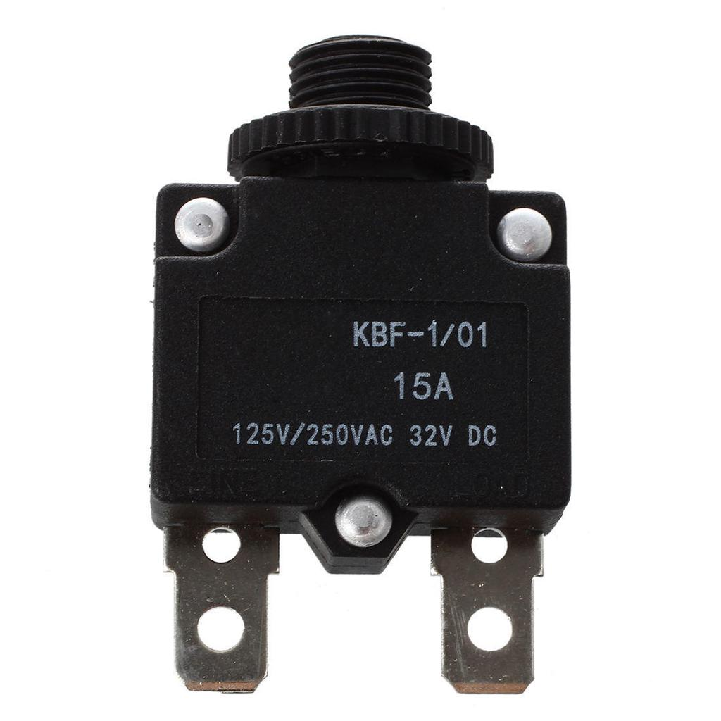 AC125//250V 15A 2P Compresseur Reset /à pouss/é disjoncteur protecteur de surcharge