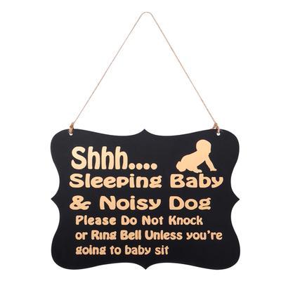 Anillo decorativo de madera bebé dormir colgador letrero para el ...