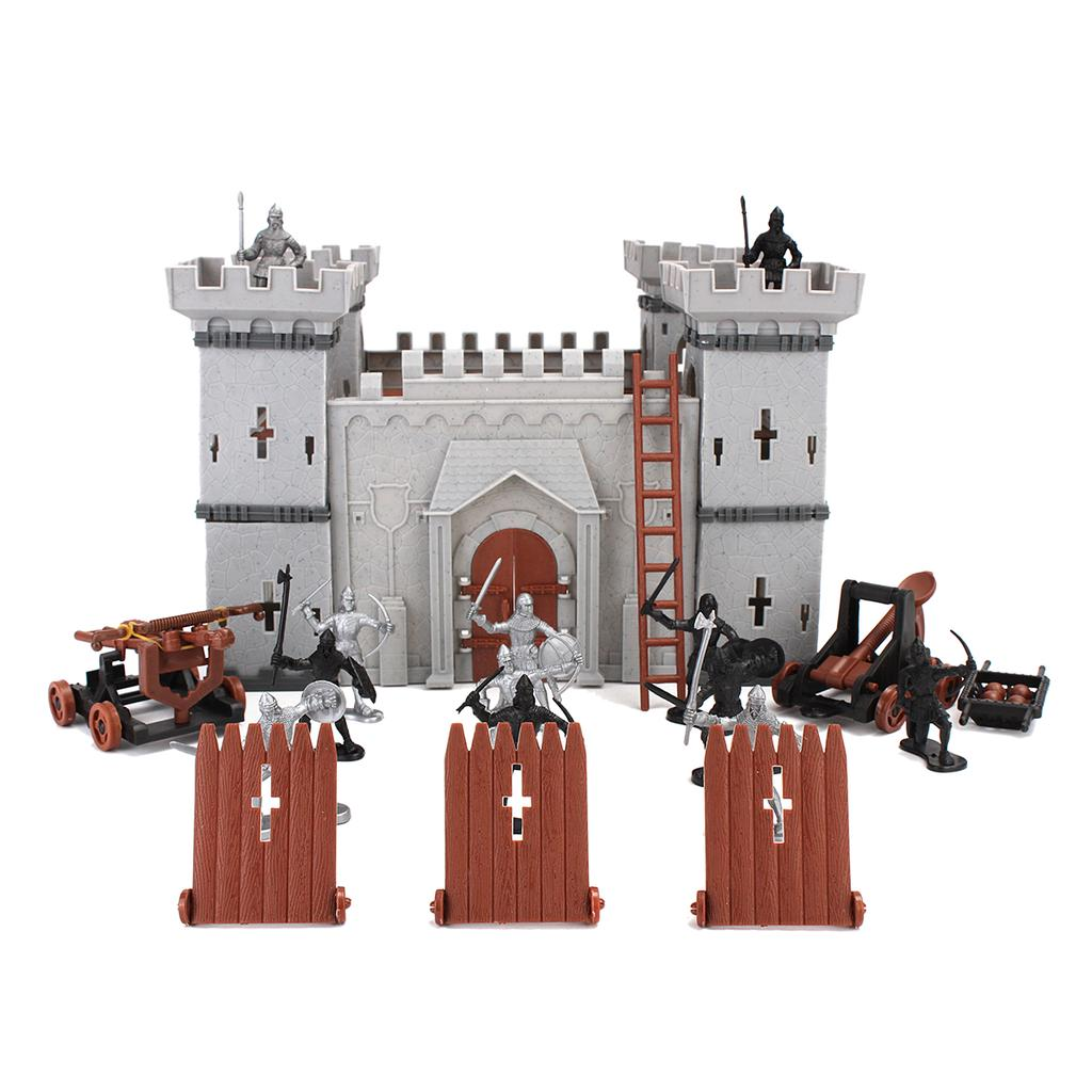 Medieval Knights Army Castle Model Playset Accessory Soldiers Infantry Figures