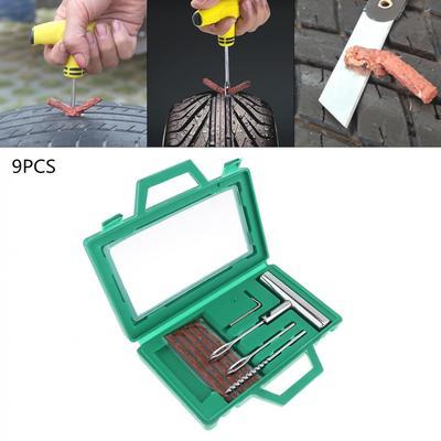 strety 24PCS 4MM 6MM 9MM Parche Neum/ático Universal para Autom/óviles Reparaci/ón De Setas Pinchazo De Neum/áticos Parche De Setas con Cable